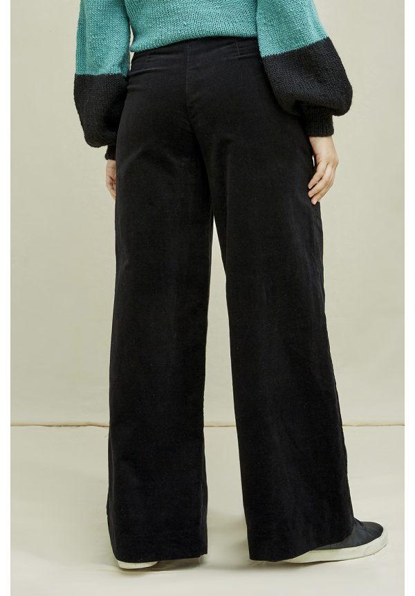 People Tree broek Caren Velvet Trouser kleur Black_KOKOTOKO duurzame kleding