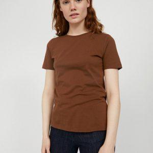 Armedangels Lidaa t-shirt in kleur Cacao Oosterstraat Groningen duurzame kleding fair fashion happy stuff