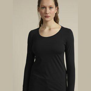 Lanius Essentials Longsleeve t-shirt in Black Oosterstraat Groningen duurzame kleding fair fashion happy stuff