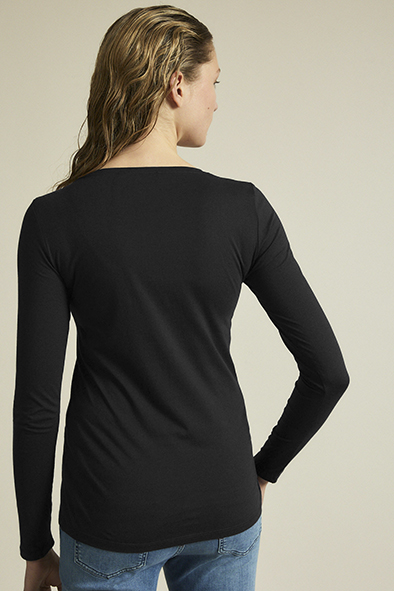 Lanius Essentials Longsleeve t-shirt Black_KOKOTOKO duurzame kleding