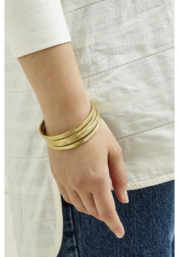 People Tree accessoires Beaten bracelet armband van Brass Oosterstraat Groningen duurzame kleding fair fashion happy stuff