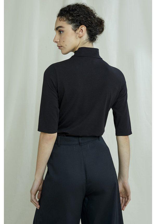 People Tree coltrui Cecily Turtleneck kleur Black_KOKOTOKO duurzame kleding