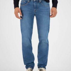 MUD Jeans Regular Dunn Stone blue _ KOKOTOKO Oosterstraat Groningen, duurzame herenbroeken, duurzame kledingmerken, eerlijke kleding, vegan mode, fair trade online webshop, fair fashion, happy stuff