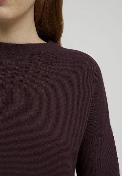 Armedangels Medinaa sweater Aubergine_KOKOTOKO duurzame kleding