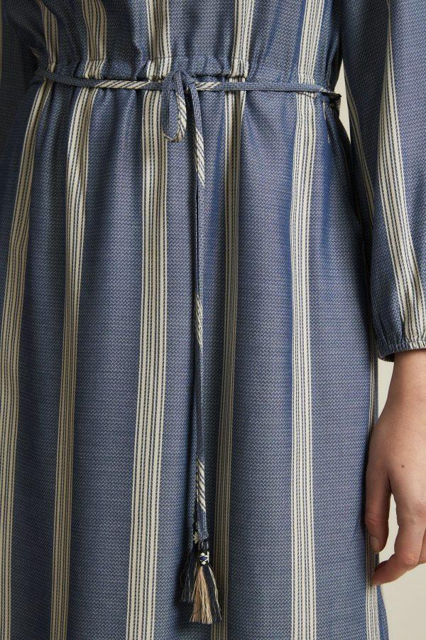 Lanius vegan Gestreepte jurk_KOKOTOKO duurzame kleding