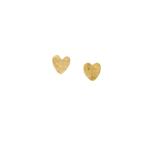 People Tree Heart Stud earrings Brass_KOKOTOKO duurzame kleding