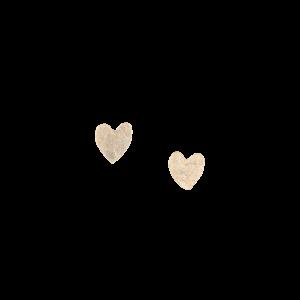 People Tree Heart Stud earrings Silver_KOKOTOKO duurzame kleding