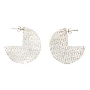People Tree oorbellen Segment earrings Silver_KOKOTOKO duurzame kleding