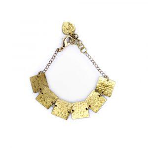 People Tree armband Square bracelet Brass_KOKOTOKO duurzame kleding
