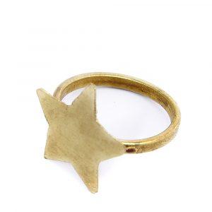 People Tree Star ring Brass_KOKOTOKO duurzame kleding