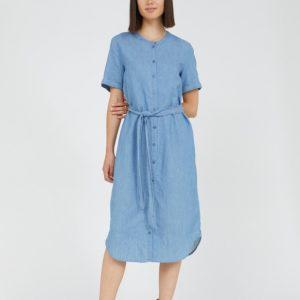 Armedangels Maare dress in kleur Foggy blue Oosterstraat Groningen duurzame kleding fair fashion happy stuff