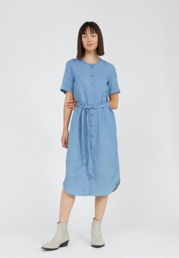 Armedangels denim jurk blousejurk Maare_KOKOTOKO Groningen duurzame kleding fair fashion happy stuff