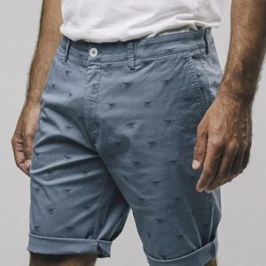 Brava Fabrics korte broek kraanvogel Japanese Sky shorts Oosterstraat Groningen duurzame kleding fair fashion happy stuff