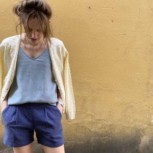 Komodo broek Muni short kleur Ink Oosterstraat Groningen duurzame kleding fair fashion happy stuff