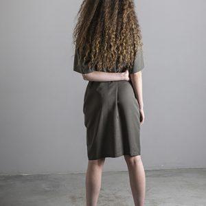 Lavandera Dress DANDO Olive_KOKOTOKO duurzame kleding