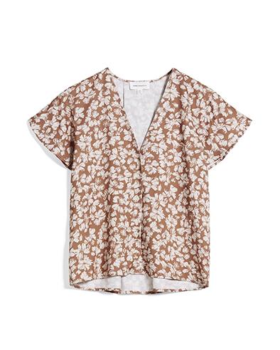 Armedangels Aanvi Straw Flower top Oatmilk _ KOKOTOKO duurzame kleding Groningen