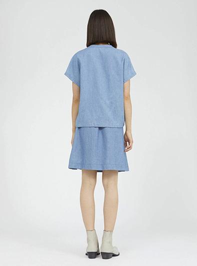 Armedangels Ciaana blouse Foggy blue_KOKOTOKO duurzame kleding