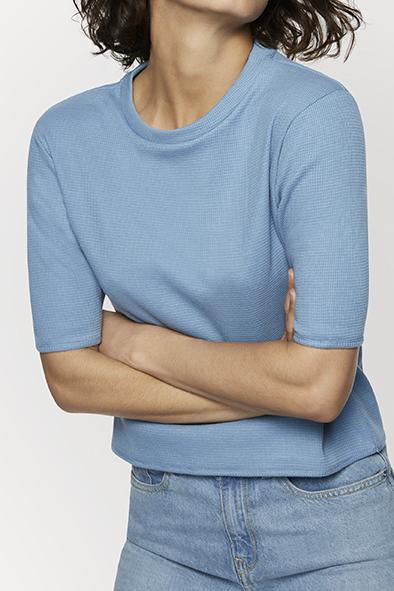 Charliemary Rosa top Bright blue _ KOKOTOKO duurzame kleding Groningen