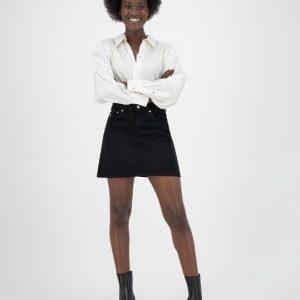 MUD Jeans rok Sophie Rocks mini skirt Dip black _ KOKOTOKO Oosterstraat Groningen, duurzame rokken, duurzame kledingmerken, eerlijke kleding, vegan mode, fair trade online webshop, fair fashion, happy stuff