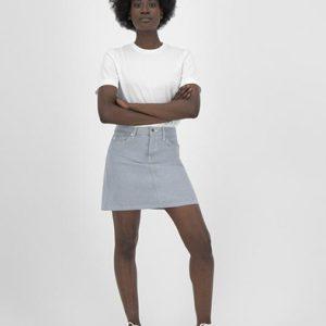 MUD Jeans rok Sophie Rocks mini skirt Undyed _ KOKOTOKO Oosterstraat Groningen, duurzame rokken, duurzame kledingmerken, eerlijke kleding, vegan mode, fair trade online webshop, fair fashion, happy stuff