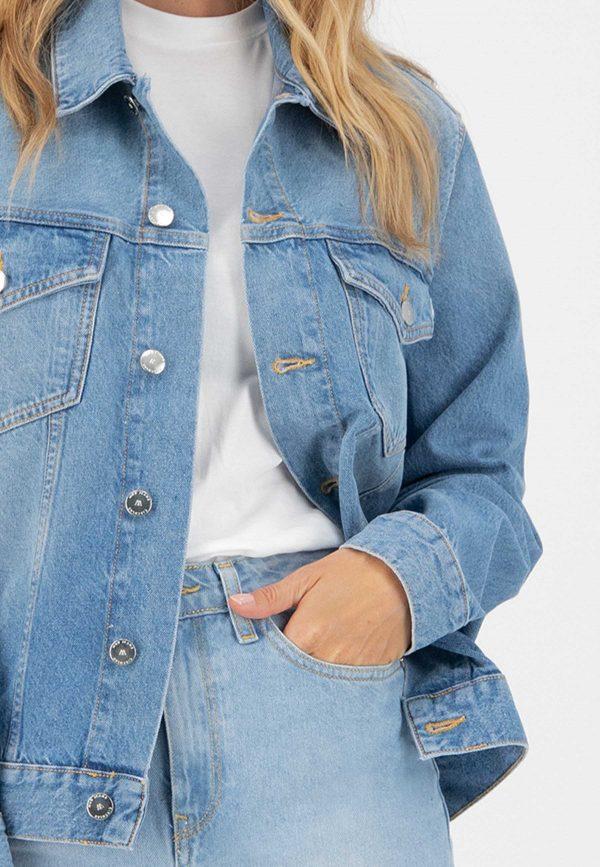 MUD Jeans Tyler Jacket Heavy Stone _ KOKOTOKO duurzame kleding Groningen
