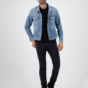 MUD Jeans Tyler Jacket Heavy Stone _ KOKOTOKO Oosterstraat Groningen, duurzame heren spijkerjack, duurzame kledingmerken, eerlijke kleding, vegan mode, fair trade online webshop, fair fashion, happy stuff