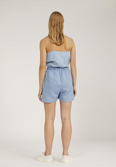 Armedangels Xuliaa shorts Foggy blue _ KOKOTOKO duurzame kleding Groningen
