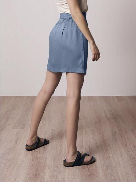 Bleed Light breeze skirt Blue _ KOKOTOKO duurzame kleding Groningen